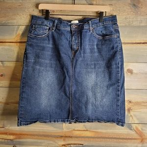 "Levis womens jean skirt, ""512 perfectly slimming"""